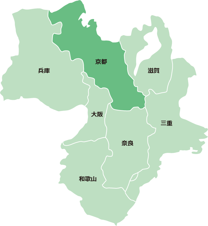 サービス対象エリア(京都府)
