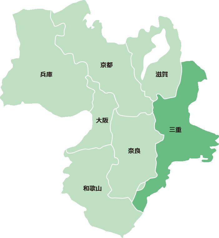 サービス対象エリア(三重県)