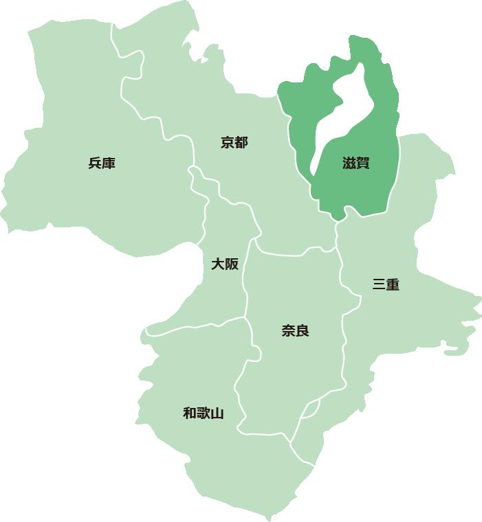 サービス対象エリア(滋賀県)
